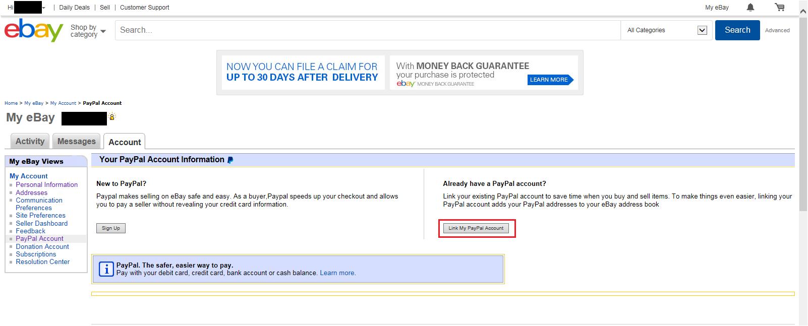 ebay Registration