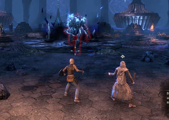 Teso battle with the first boss