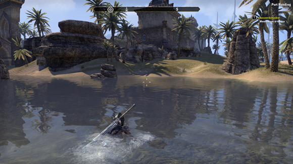 Teso my character swimming