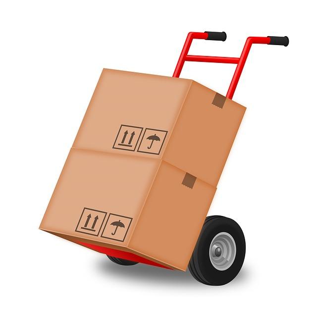 Box on the loading platform