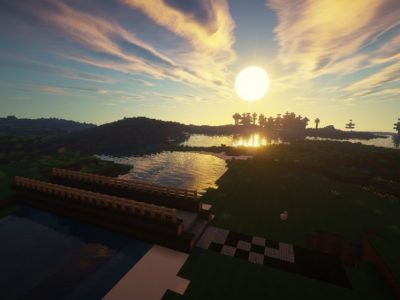 Sun rises in Minecraft