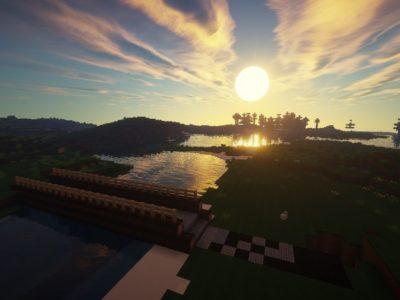 Sun rises in Minecraft
