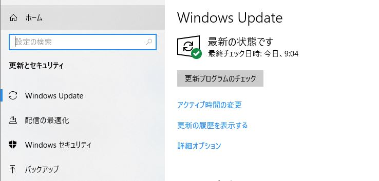 Windows update check