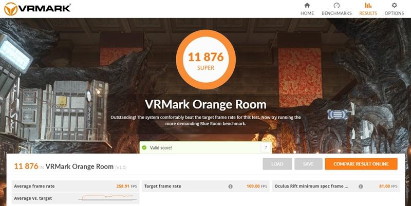 ガレリアAXVのレビュー:VRMarkベンチマークスコア